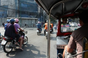 On the way to Democracy Monument