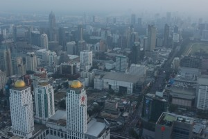 Bangkok before sunset Baiyoke Sky Tower