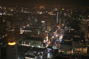 Bangkok after sunset Baiyoke Sky Tower